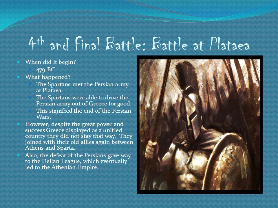 4th and Final Battle: Battle at Plataea