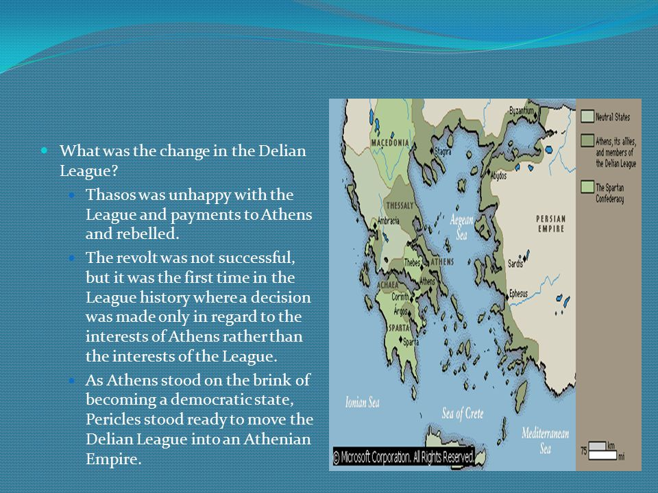 What was the change in the Delian League