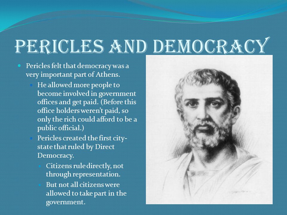 Pericles and democracy