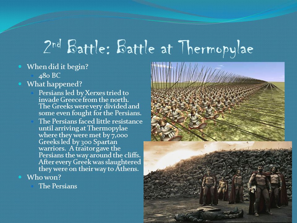 2nd Battle: Battle at Thermopylae