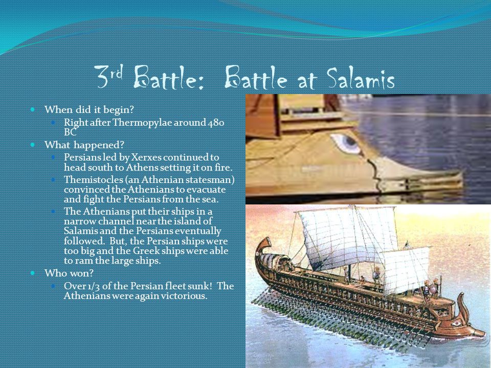 3rd Battle: Battle at Salamis