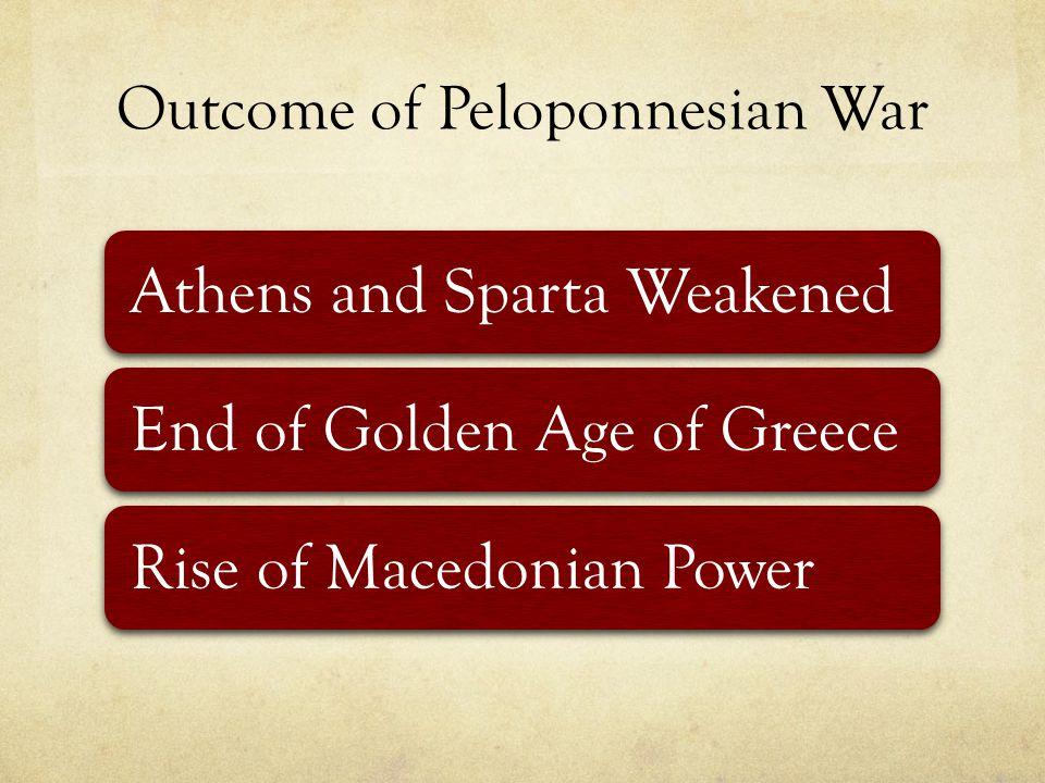 Outcome of Peloponnesian War