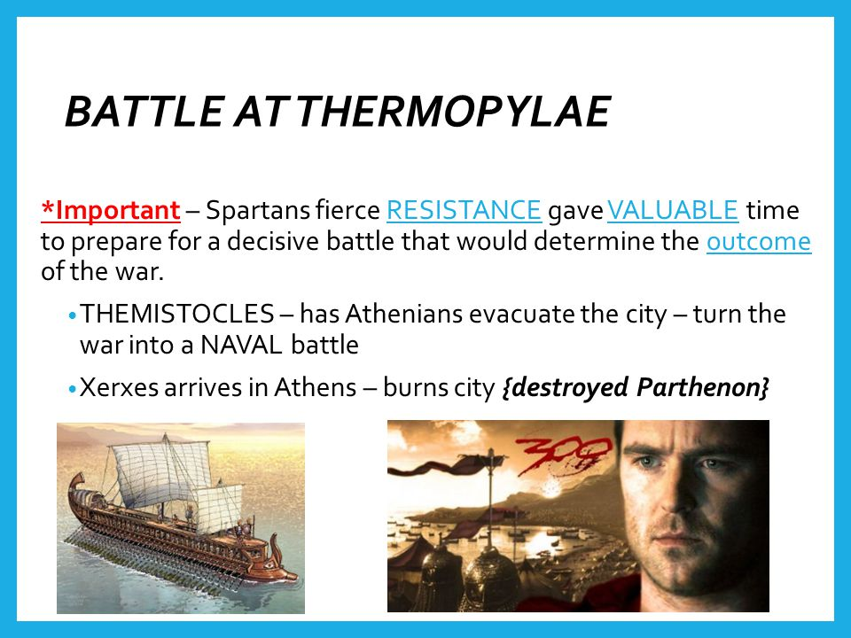 BATTLE AT THERMOPYLAE