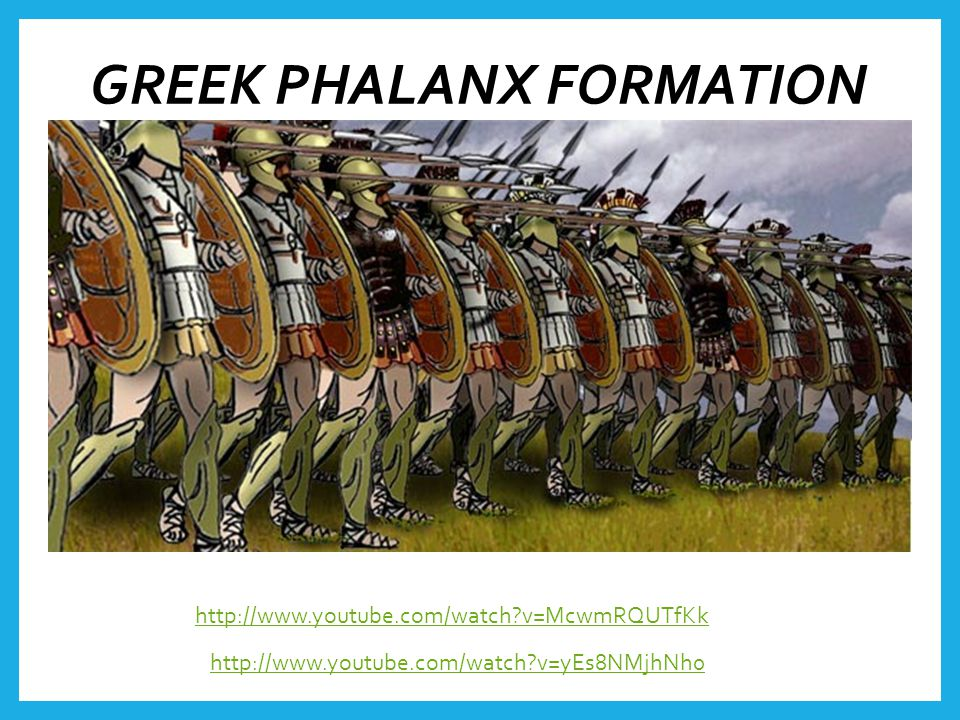 GREEK PHALANX FORMATION