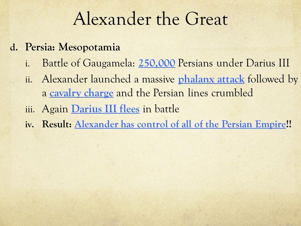 Alexander the Great Persia: Mesopotamia