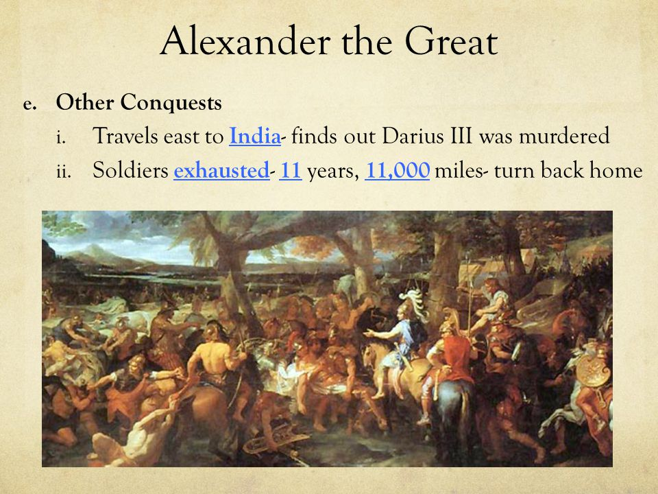 Alexander the Great Other Conquests