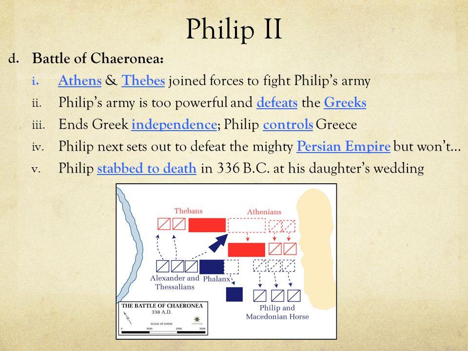 Philip II Battle of Chaeronea:
