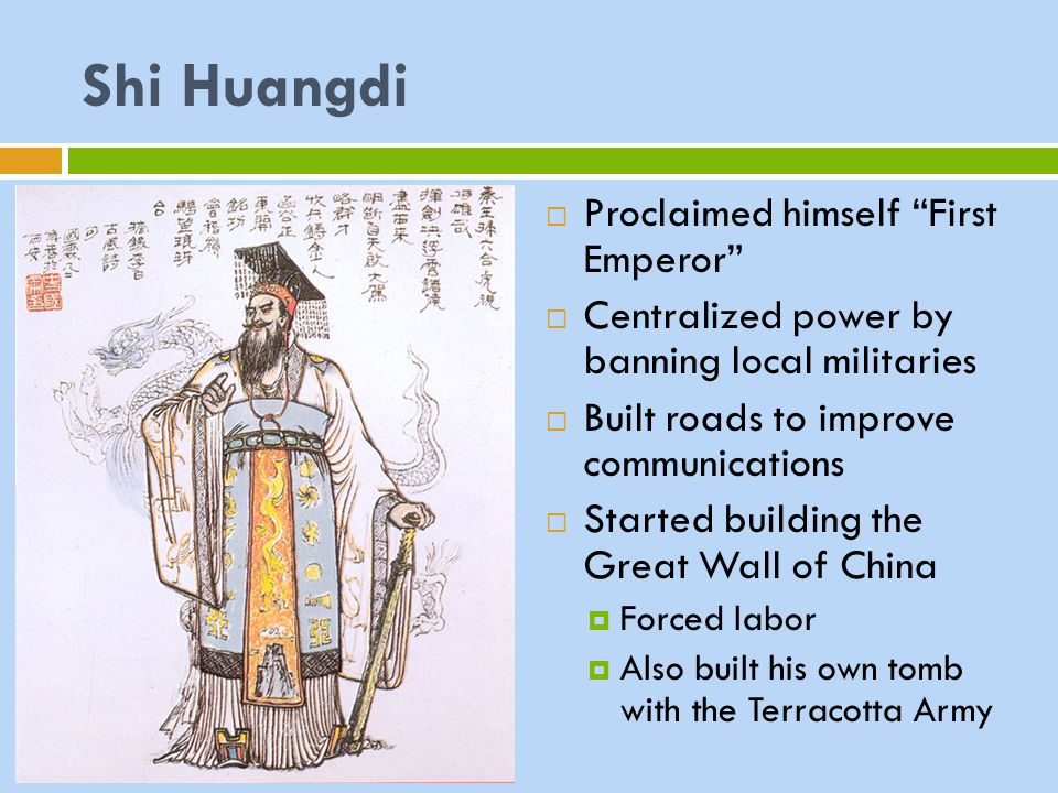Shi Huangdi Proclaimed himself First Emperor