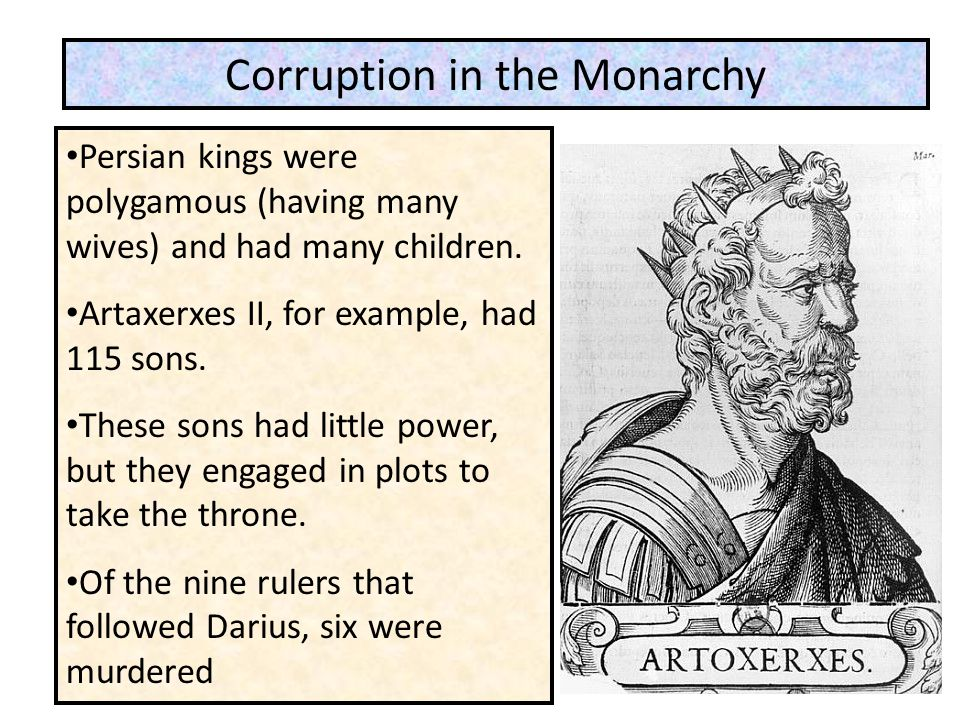 Corruption in the Monarchy