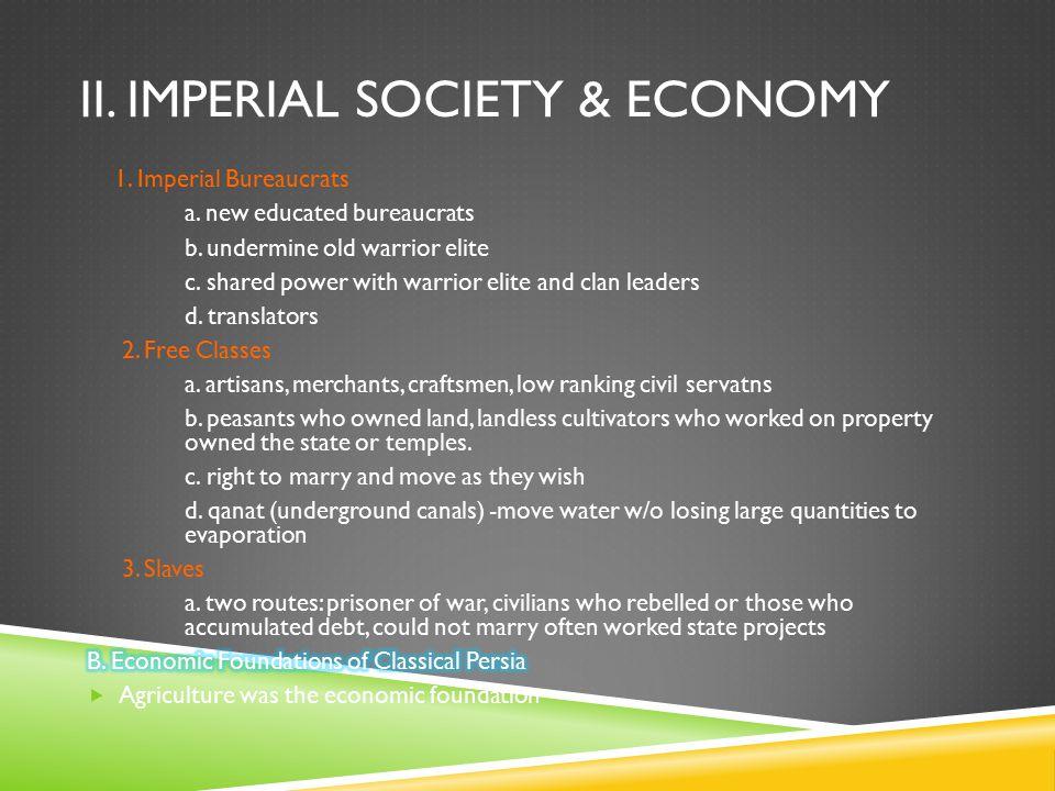 II. IMPERIAL SOCIETY & ECONOMY