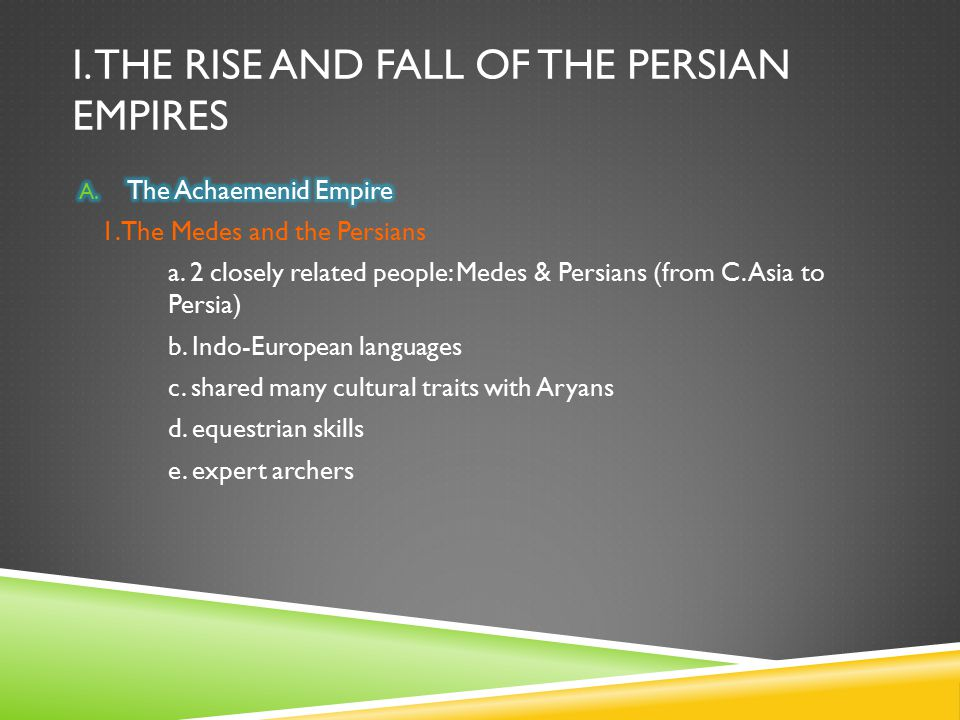 I. The rise and fall of the persian empires