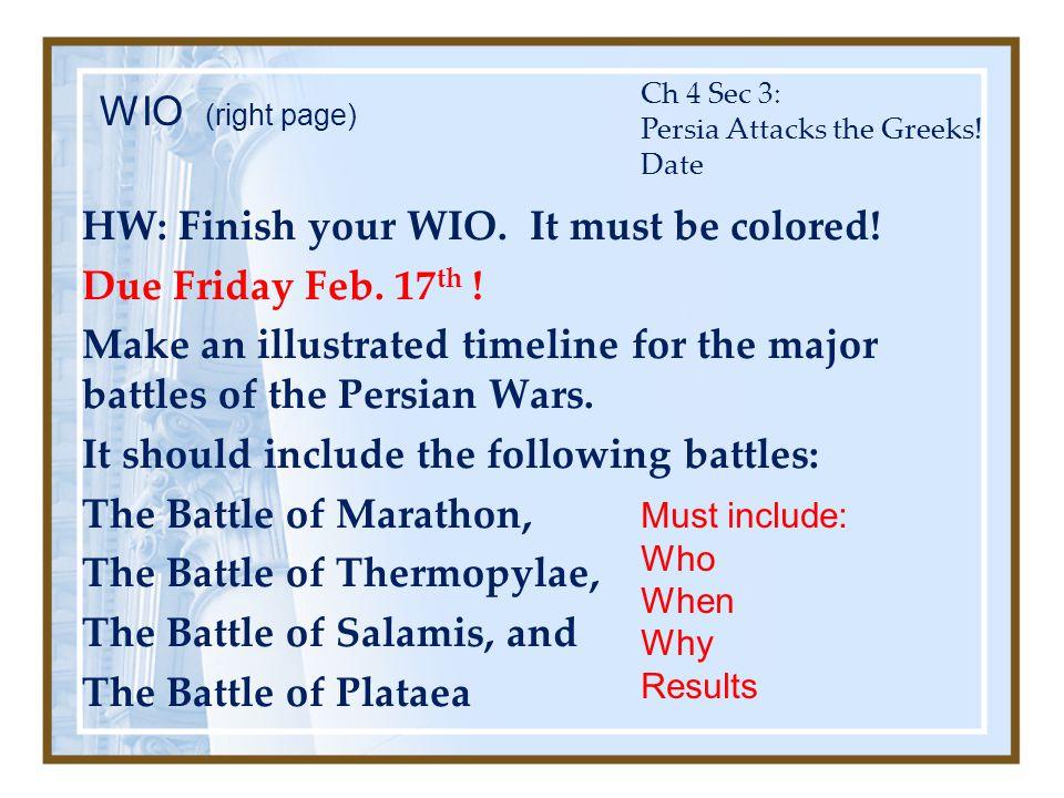 Ch 4 Sec 3: Persia Attacks the Greeks! Date