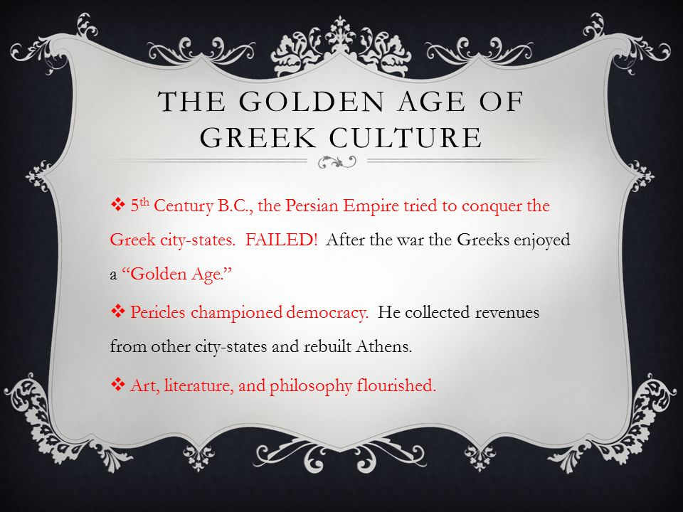 The Golden Age of greek culture