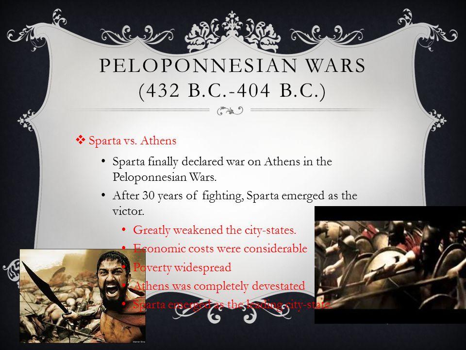 Peloponnesian Wars (432 B.C.-404 B.c.)