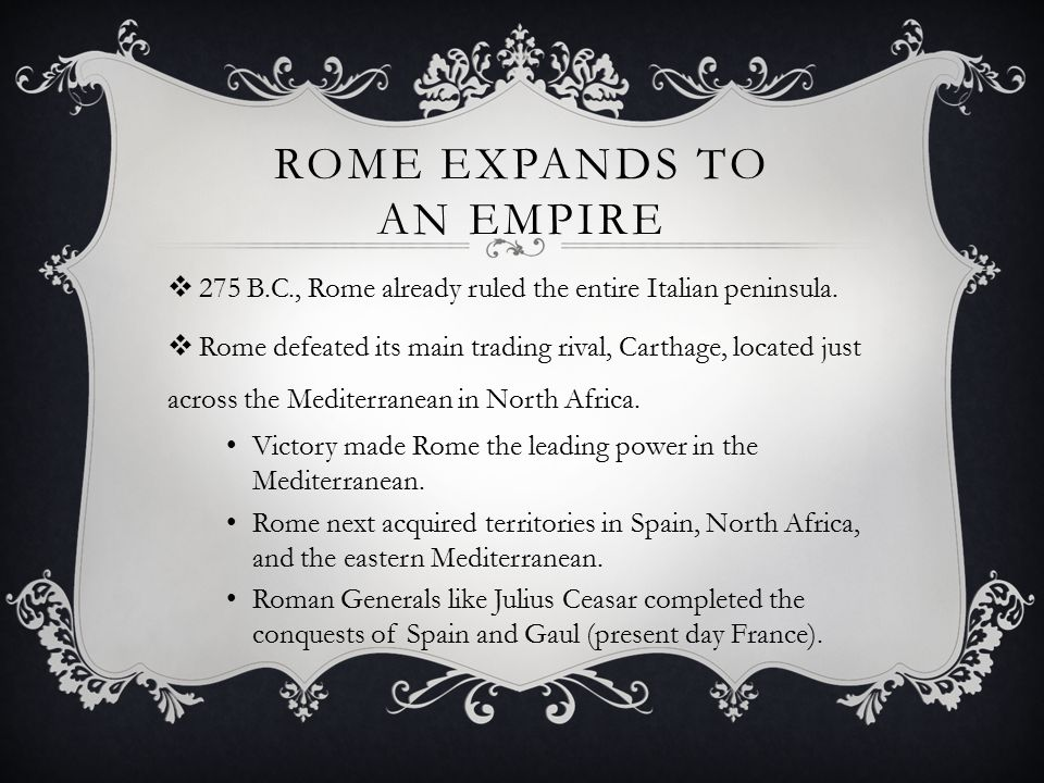 Rome expands to an empire