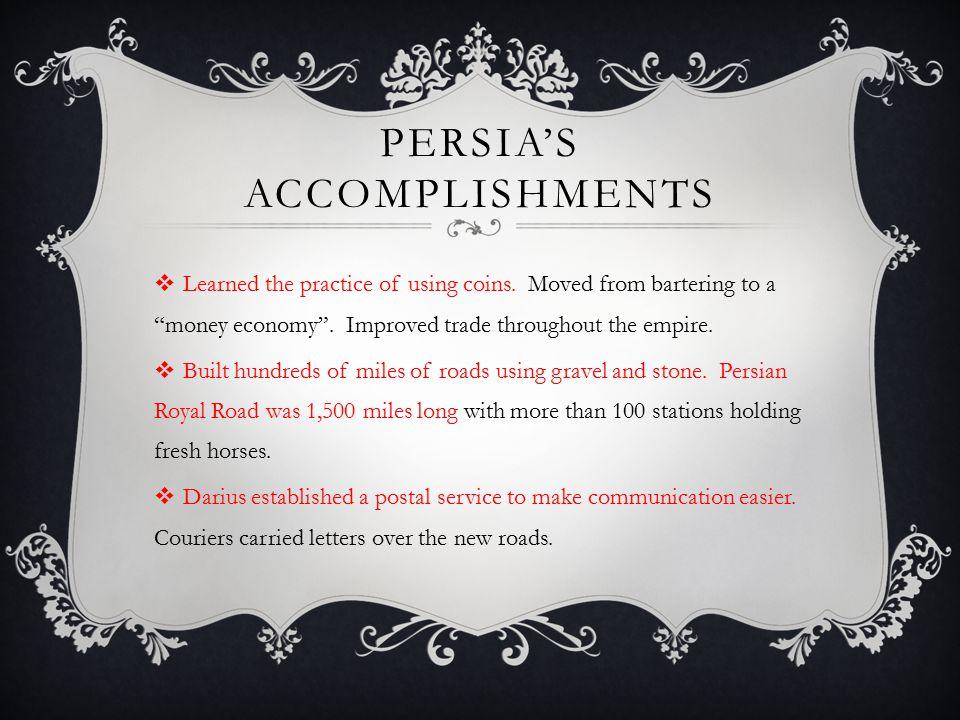 Persia's accomplishments