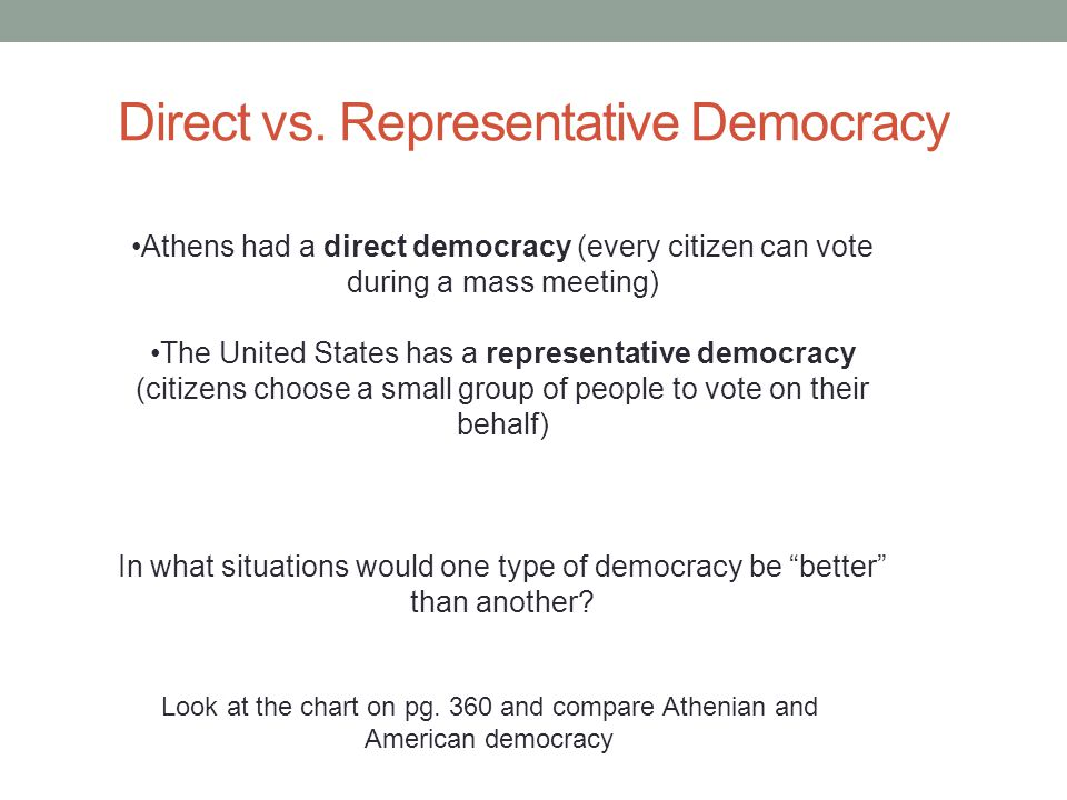 Pros and Cons of Representative Democracy