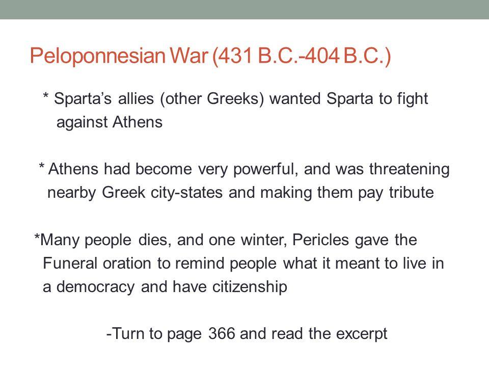 Peloponnesian War (431 B.C.-404 B.C.)