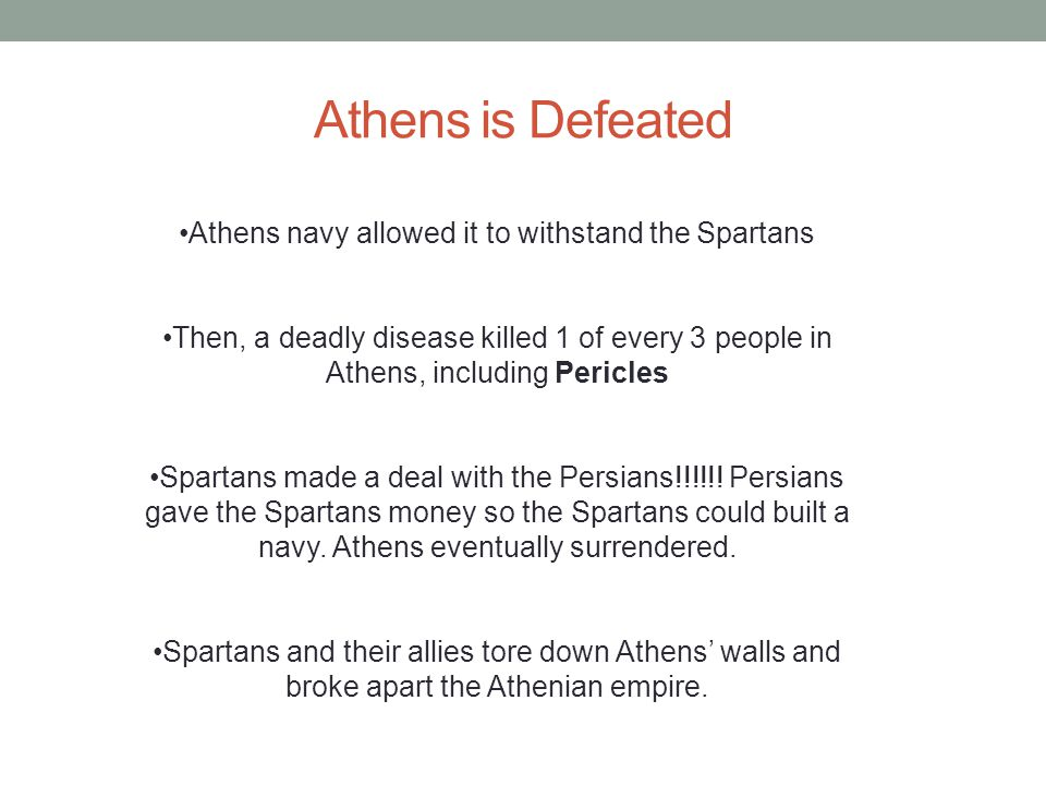 Athens navy allowed it to withstand the Spartans