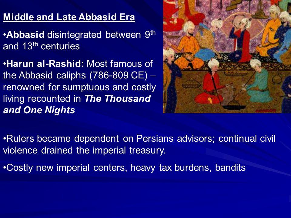 Middle and Late Abbasid Era