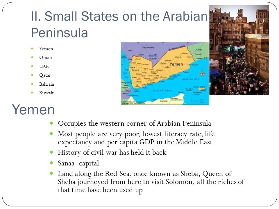 II. Small States on the Arabian Peninsula