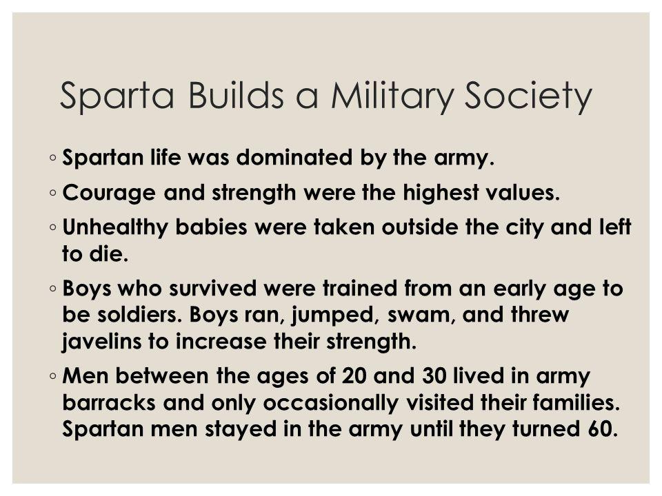 Sparta Builds a Military Society