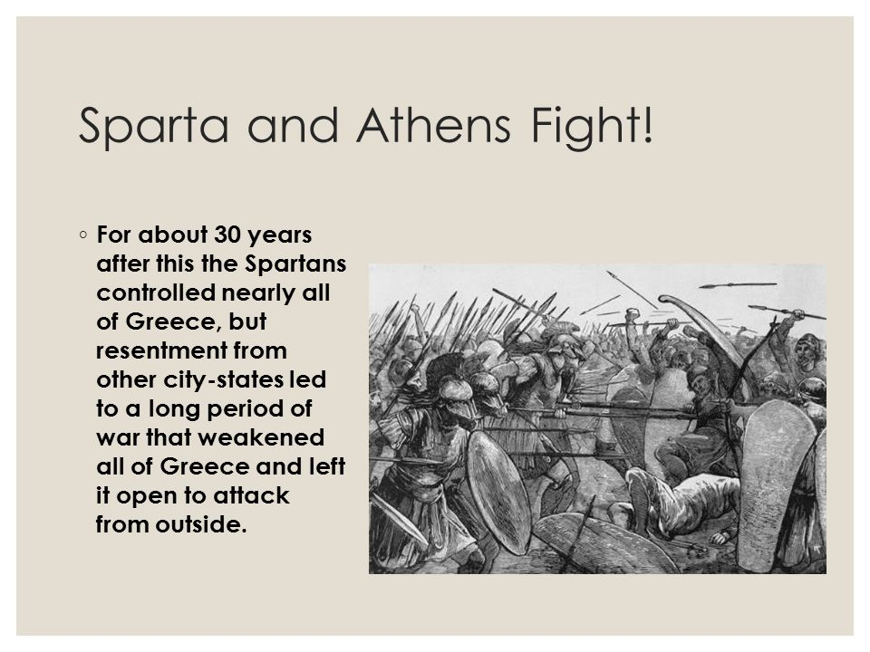 Sparta and Athens Fight!