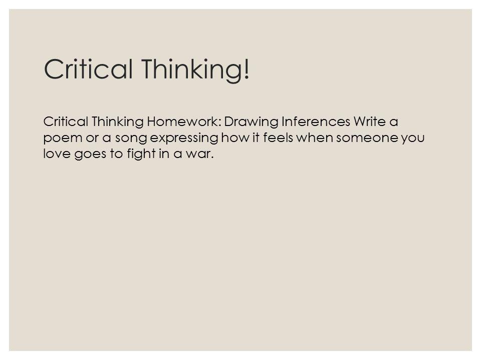 Critical Thinking!