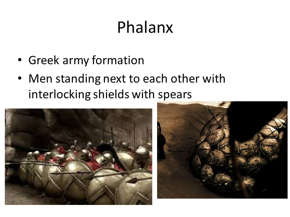 Phalanx Greek army formation