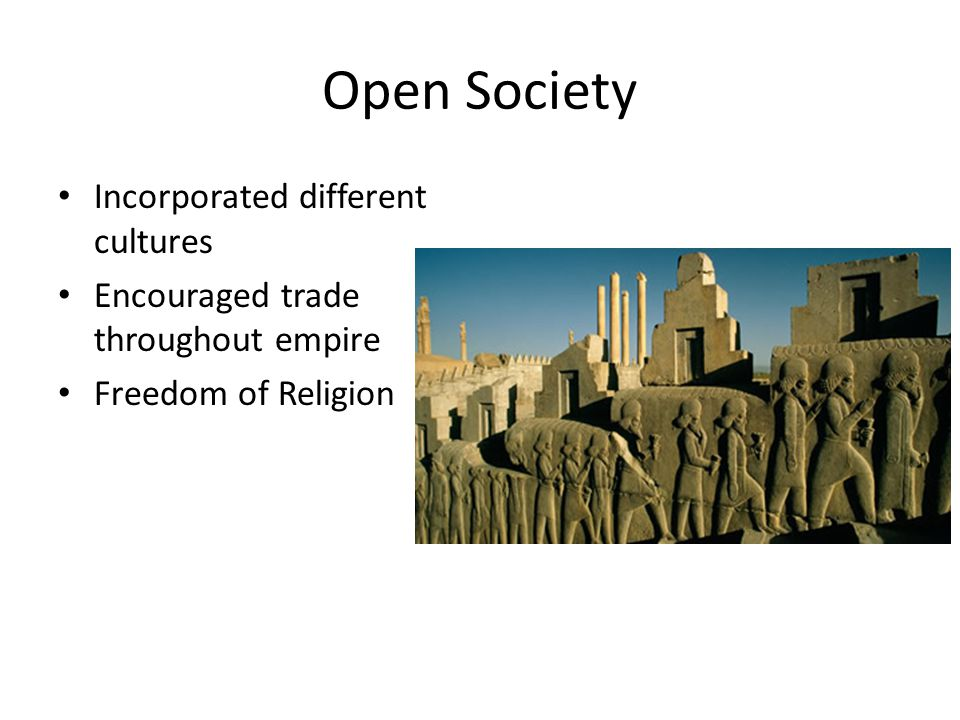 Open Society Incorporated different cultures