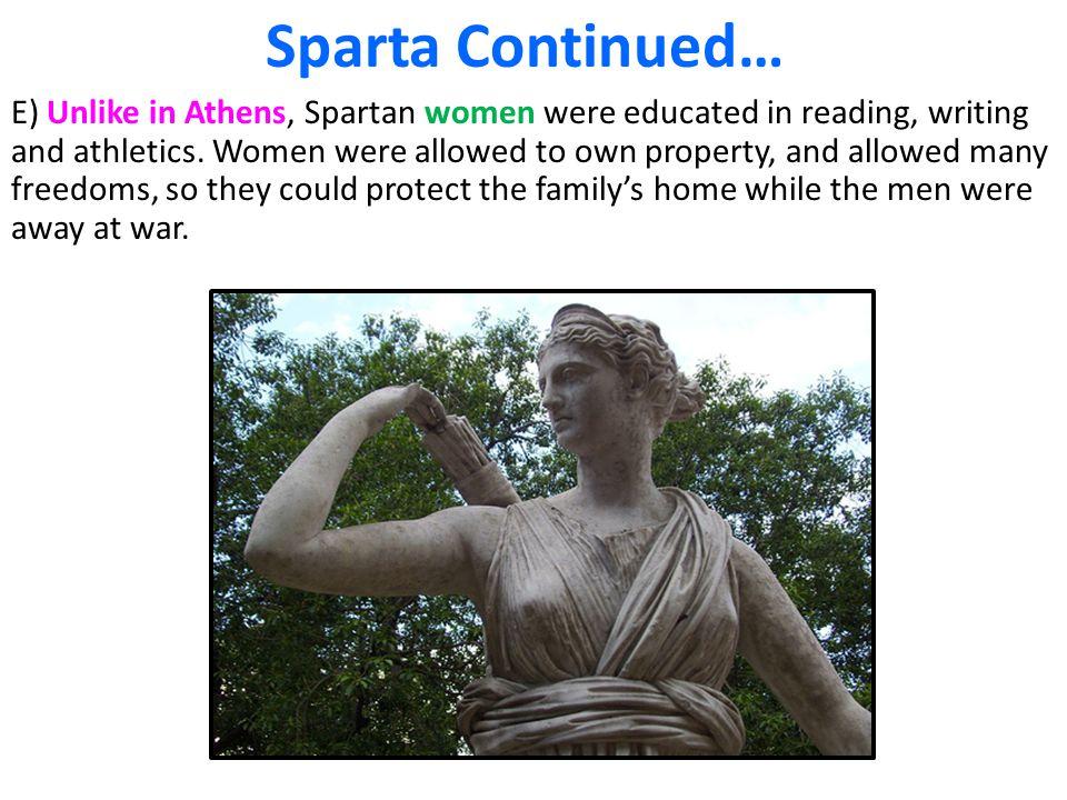 Sparta Continued…