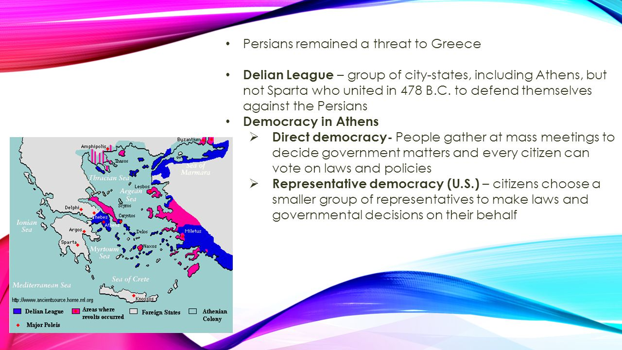 Persians remained a threat to Greece