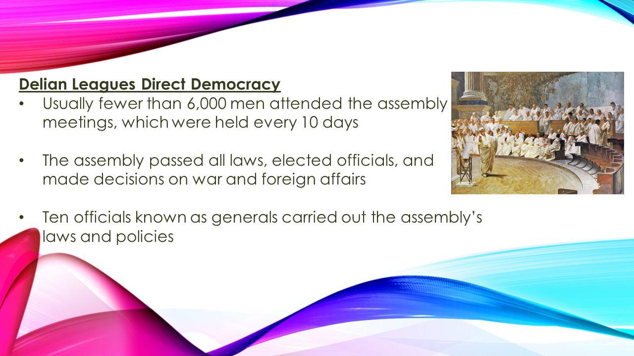 Delian Leagues Direct Democracy