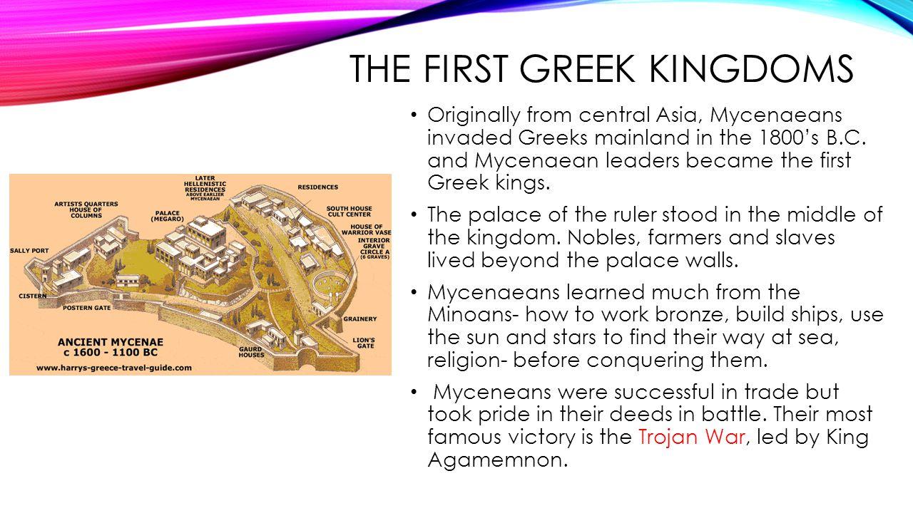 The first greek kingdoms