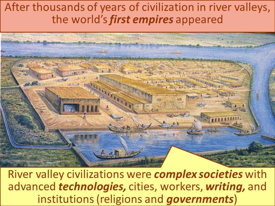After thousands of years of civilization in river valleys, the world's first empires appeared