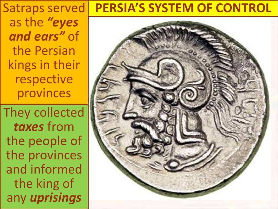 PERSIA'S SYSTEM OF CONTROL
