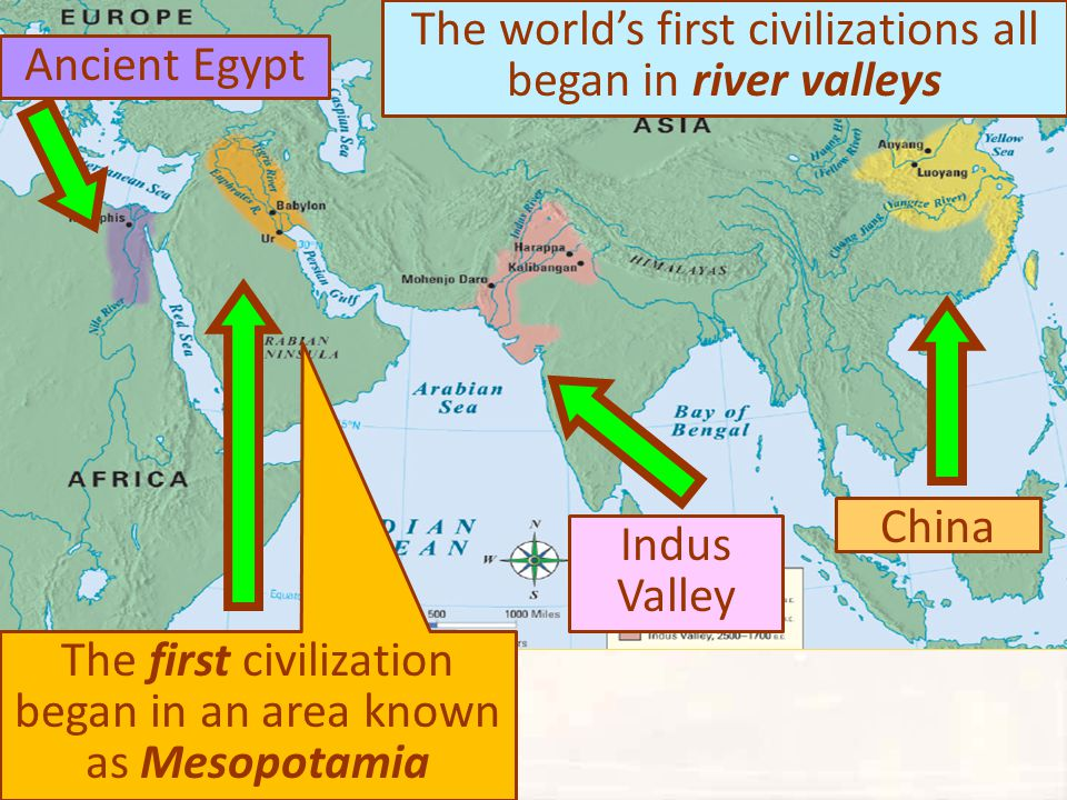 The world's first civilizations all began in river valleys