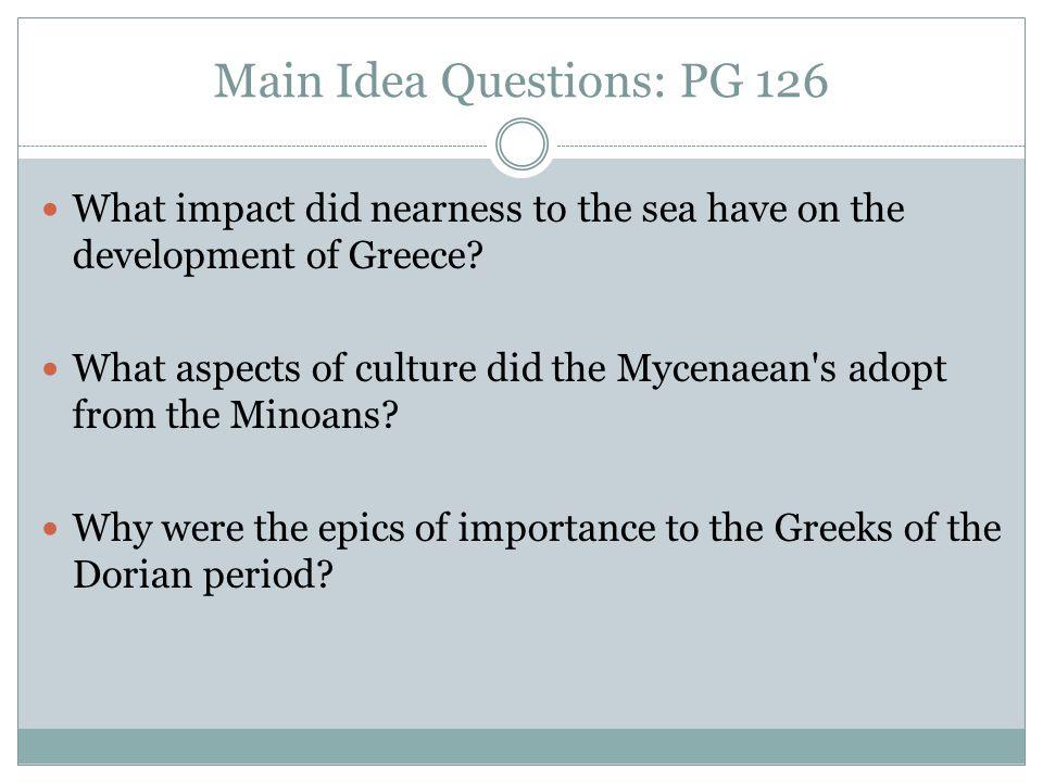 Main Idea Questions: PG 126