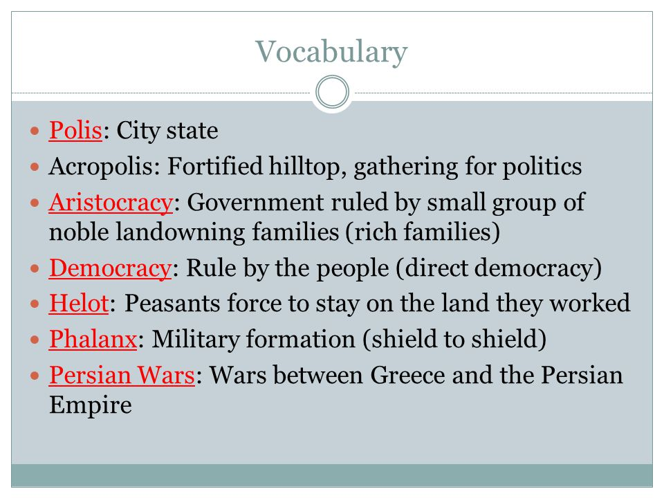 Vocabulary Polis: City state