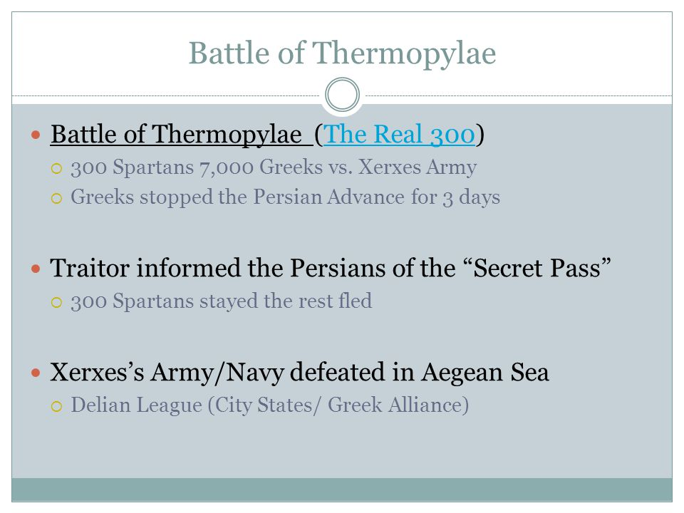 Battle of Thermopylae Battle of Thermopylae (The Real 300)