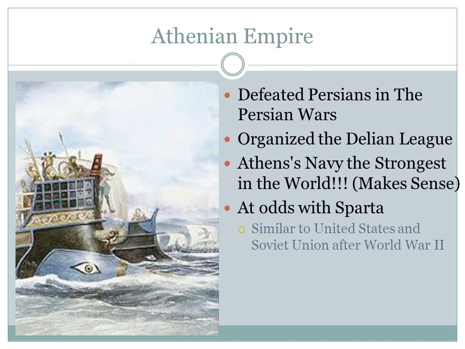 Athenian Empire Defeated Persians in The Persian Wars