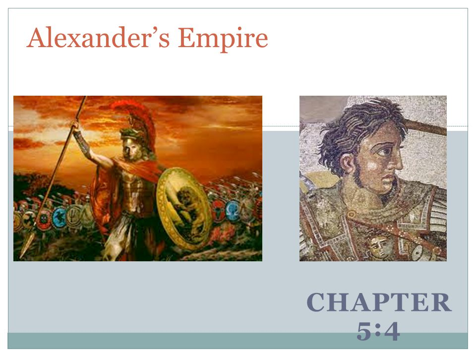 Alexander's Empire Chapter 5:4