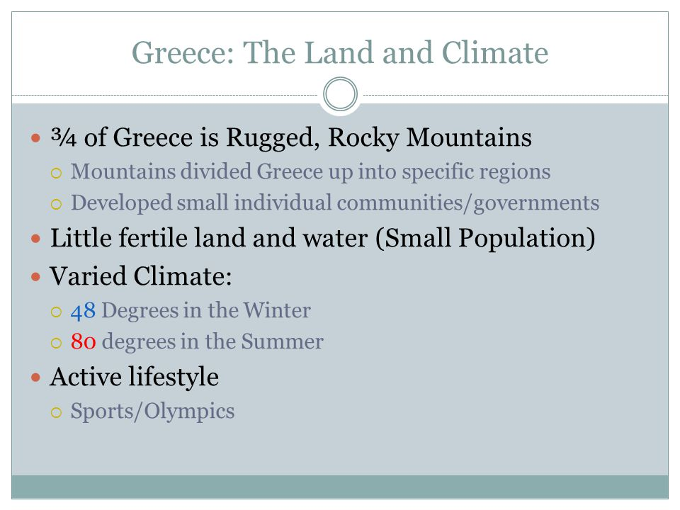 Greece: The Land and Climate