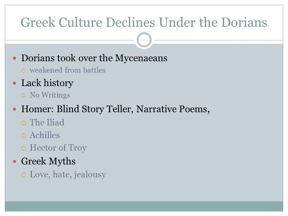 Greek Culture Declines Under the Dorians