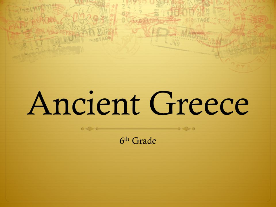Ancient Greece 6th Grade