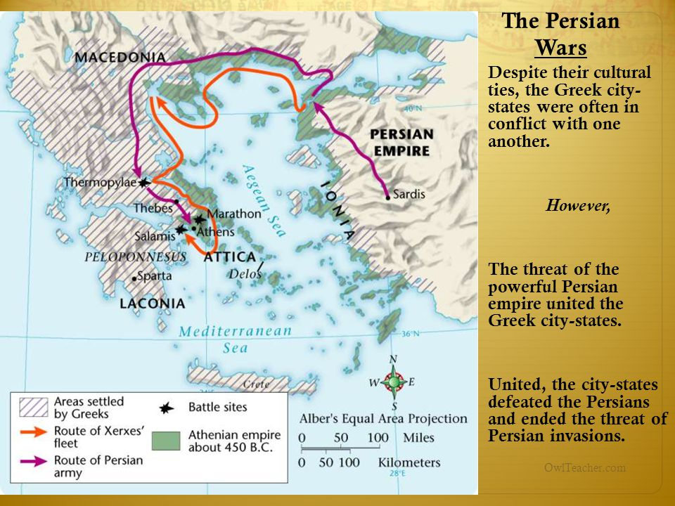 The Persian Wars Despite their cultural ties, the Greek city- states were often in conflict with one another.