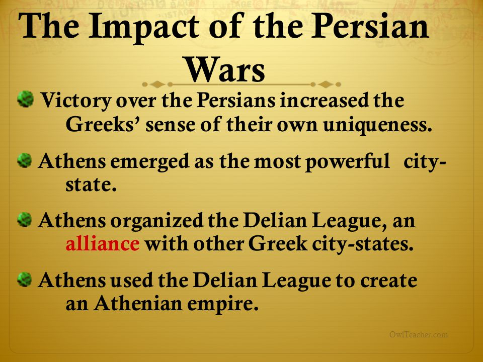 The Impact of the Persian Wars