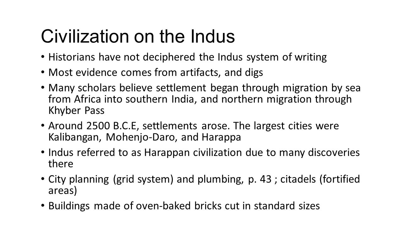 Civilization on the Indus
