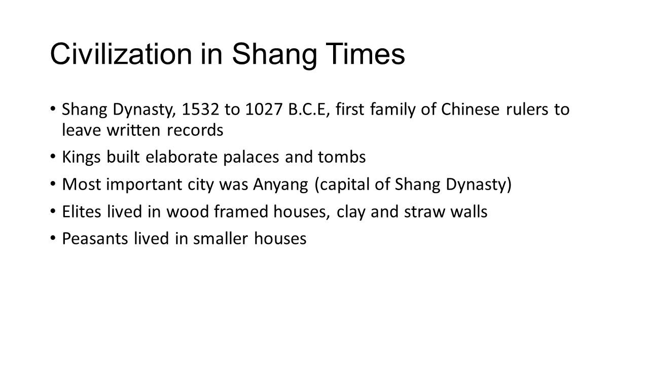 Civilization in Shang Times