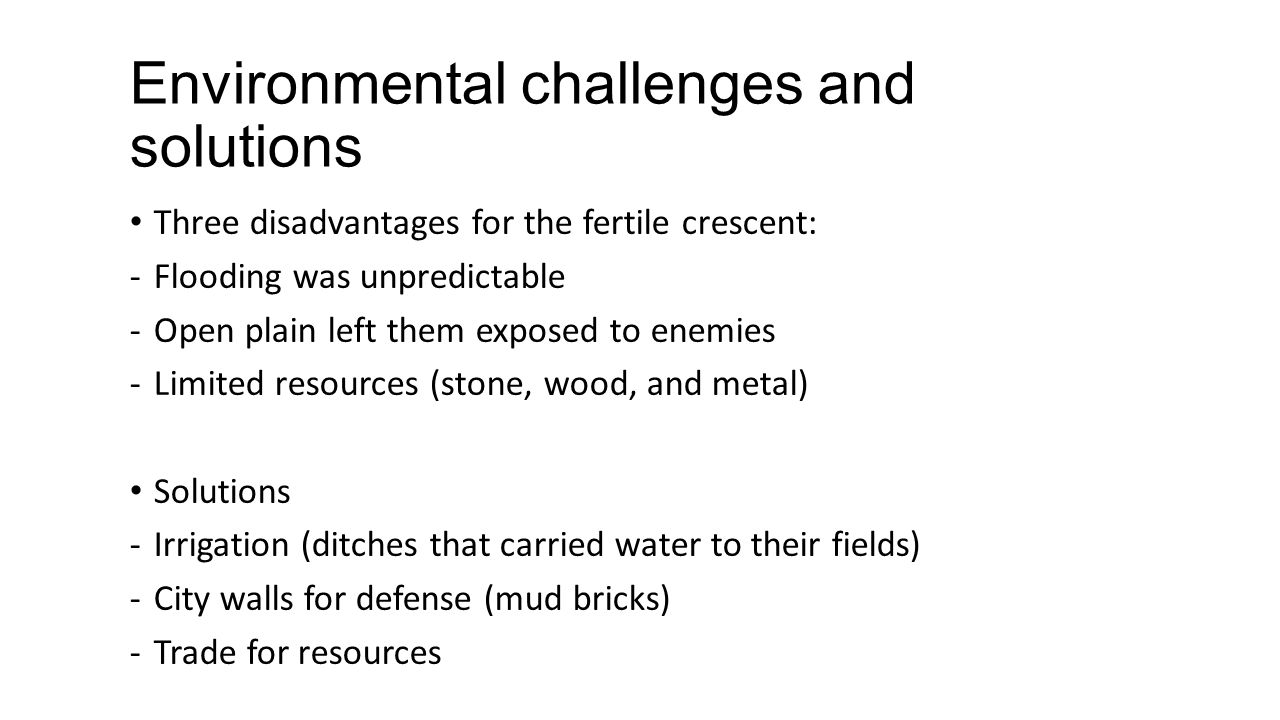 Environmental challenges and solutions